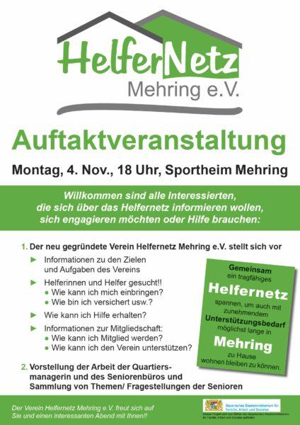 Auftaktveranstaltung Helfernetz Mehring E.V.